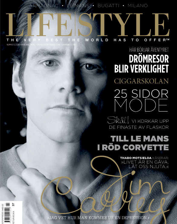 Carrey On The Cover Of 'Lifestyle