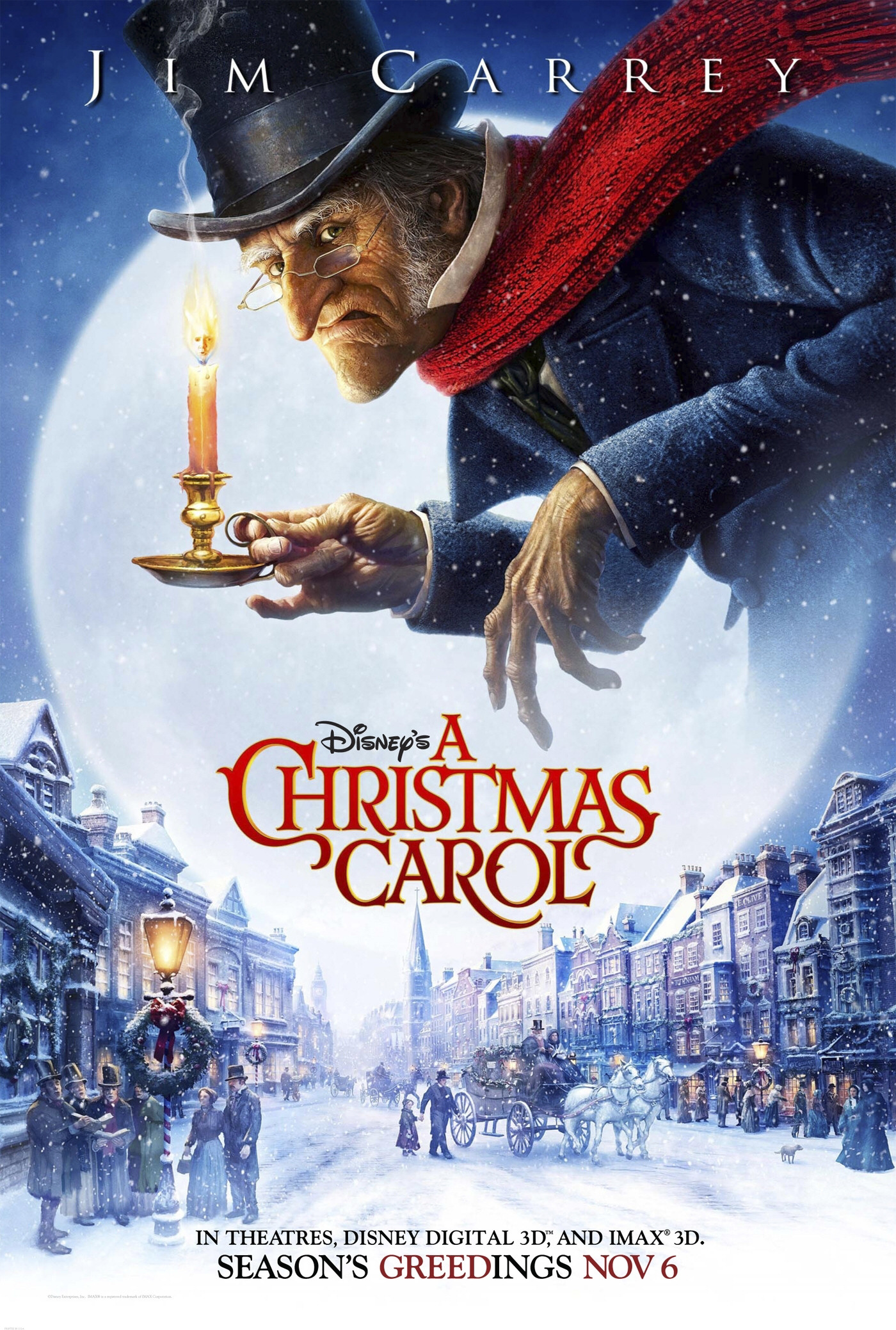 "Carrey's ""A Christmas Carol"" Official Poster Revealed"