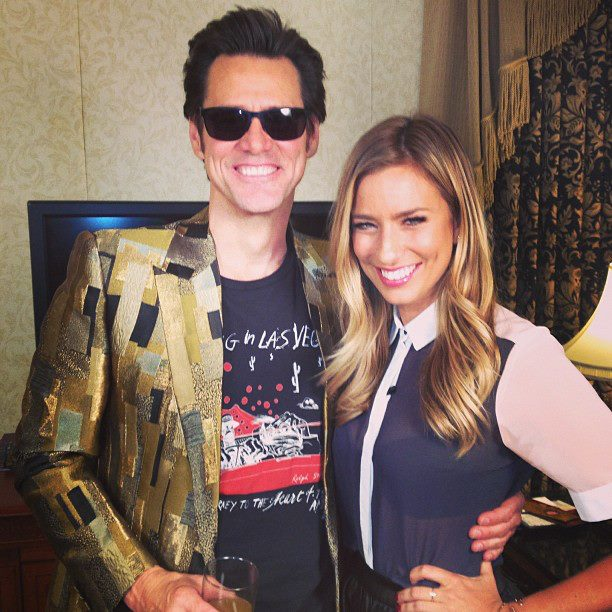 Jim Carrey and Renee Bargh