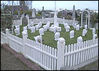 Another view of the veterans' graves