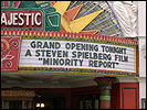 'Minority Report' marquee