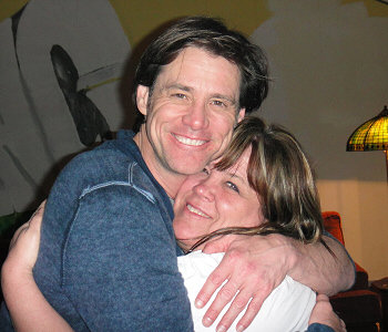 Jim Carrey and Rita Carrey