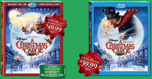 a christmas carol 3d blu ray